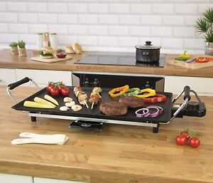 Large Electric Teppanyaki Grill Griddle Hot Plate Steak Cooking Stone NON STICK