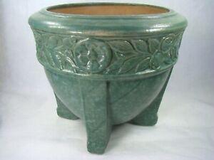 Art-Deco LARGE Buttress Foot Green-Blue Jardiniere Robinson Ransbottom R.R.P. Co