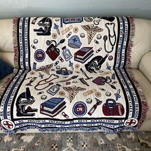 Doctor Nurse Pharmacist Medical Tapestry Throw Blanket 65X47 Goodwin Weaver READ