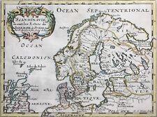 Scandinavia 1686 Denmark Sweden also Scotland Norway by Sanson, antique map