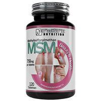 MSM 120 Tabletten je 750mg Methylsulfonymethan Bindegewebe schöne Haut