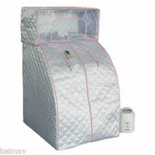 Portable Steam Sauna Home Spa (Gray/Pink)