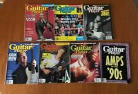x 7 Guitar Player Magazines Job Lot 1988 1989 1990 Hendrix - Amps in the 90s etc