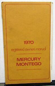 1970 Mercury Montego Cyclone Owners Manual Original