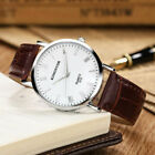 Men's Military Leather Date Quartz Analog Army Casual Dress Wrist Watches UK