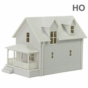 1pc HO Scale 1:87 Model Blank House White Unassembled Architectural Building