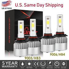 4X 9005 9006 LED Headlight  3700W 510000LM HB3 HB4 High Low Beam 6000K White