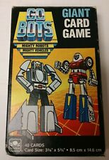 Gobots Giant Card Game 1985 Tonka - Cards Excellent Condition