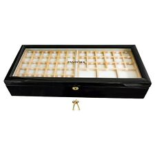 BLACK PANDORA DOUBLE-TIERED JEWELLERY PRESENTATION BOX