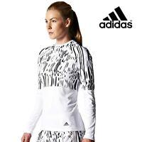 Adidas Womens Aktiv Long Sleeve Hoodie Top Running Fitness Gym Free Postage