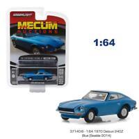 GREENLIGHT 37140B 1970 DATSUN 240Z BLUE MECUM SERIES 2 DIECAST CAR 1:64