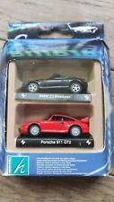 Cararama Hongwell 2-pack  BMW Z3 ROADSTER + PORSCHE 911 GT2 1/72