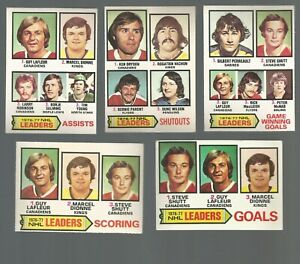 LOT OF 5 77/78 OPC & TOPPS LEADERS LAFLEUR DIONNE DRYDEN+++IN EX PLUS TO EX-MT