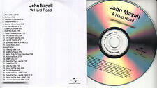 JOHN MAYALL A Hard Road UK 28-trk numbered/watermarked promo test CD