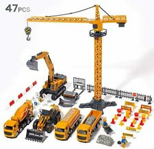 Alloy Construction Vehicles Truck Toy Set Kids Engineering Truck Playset Crane