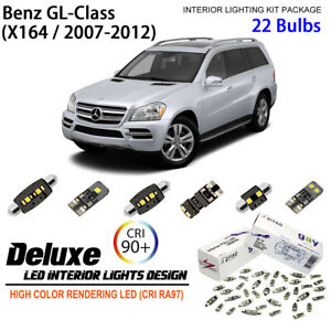 22 Bulbs Deluxe LED Interior Light Kit Replacement for 2007-2012 Benz GL- Class