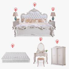 Schlafzimmer Barock Rokoko Antik Stil Möbel 7tlg. Set Bett Schrank Schminktisch