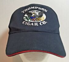 Thompson Cigar Company Black Baseball Cap Adult Size Embroidered Logo Adjustable