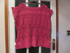 SIBLING WOMEN'S CROCHET PINK  HOLE OVERTOP - SIZE SMALL