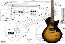 Gibson Les Paul Junior Electric Guitar Full-Scale Plan