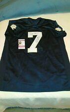 Steve Beuerlein Notre Dame Fighting Irish Signed Blue Jersey Panthers JSA G97022