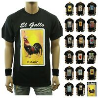 Fashion Graphic T-Shirt Funny LOTERIA Rooster Mexico Spanish Hipster Casual Tee