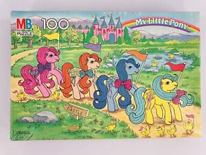 """Vintage My Little Pony """"To Castle"""" 100-Piece Puzzle 1989 Complete In Box 4576-12"""
