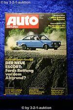 Auto Zeitung 3/75 BMW 525 Ford Escort USA 1975 Volvo 264