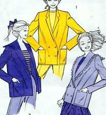Vintage 80s BLAZER JACKET Sewing Pattern FF UNCUT Bust 83 87 92 97 cm MULTI SIZE