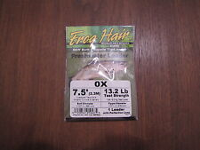 Fly Fishing Frog Hair 7.5' Freshwater Tapered Leader - 0x - 13.2 lb