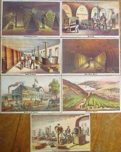 Pleasant Valley Wine Co., Hammondsport, NY SEVEN 1870s Victorian Trade Cards