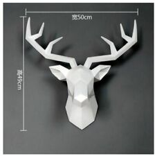 Large Size 4 Color Available New Geometry 3D Animal Deer Head Wall Decoration He