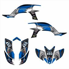 Yamaha YFZ 450 graphics kit 2003 2004 2005 2006 2007 2008 stickers #3737-Blue