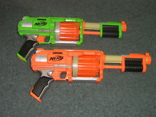 Nerf Dart Tag Fury Fire Blaster Gun Revolvers Set of 2 Green & Orange