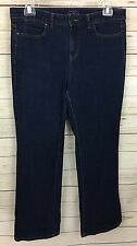 Talbots Simply Flattering 5-Pocket Medium wash Boot Cut Jeans Size 14