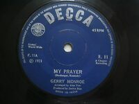 "GERRY MONROE my prayer/apple blossom RARE SINGLE 7"" 45 1971 INDIA INDIAN VG+"