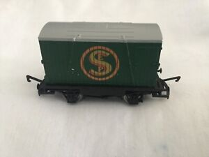Hornby R6294 ?  Eddie stobart closed wagon in mint condition, several available.