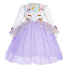 Flower Girl Dress Unicorn Costume Christmas Party Birthday Cosplay Fancy Dresses