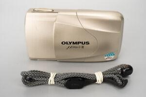Olympus µ Mju II 35mm f2.8 35mm Point & Shoot Film Camera, Champagne #276