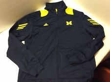 Adidas Scorch Climalite Large Michigan Wolverines Full Zip Jacket Sweatshirt Men