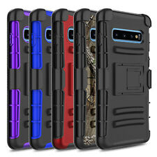 For Samsung Galaxy S10/S10+/S20 Plus Case Shockproof Stand Belt Clip Phone Cover