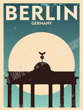 Berlín Alemania Estilo Retro viajes, vacaciones anuncio Letrero De Metal Regalo Decoración De Casa