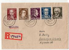 DDR Einschreiben 200. Geburtstag Goethe in die Schweiz 6.9.1949