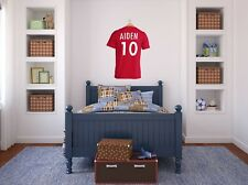 PERSONALISED Football Wall Art, Soccer, Transfer, PVC Decal, 3D, Sticker