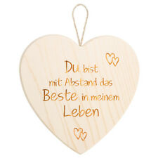 Großes Holzherz + Lasergravur Liebe Holz Herz-Hänger Valentinstag
