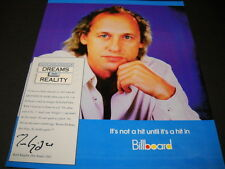 Mark Knopfler Dire Straits Dreams Into Reality 1992 Promo Poster Ad mint cond.