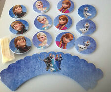 Disney Frozen Cupcake Wrappers + Cupcake Toppers 12 Pack Party Cake Decoration