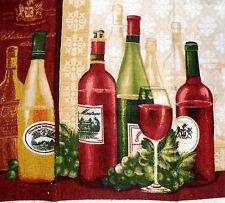 Crochet top Kitchen Dish Towels  -Listing #t041 Wine