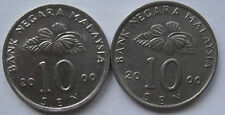 Second Series 10 sen coin 2000 2 pcs