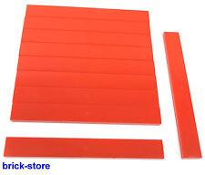 LEGO rouge 1x8 Basic carrelage/Dalles/PLAQUES/10-pc